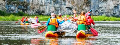 Сплав по реке (водный поход) на катамаранах – дружно, вместе