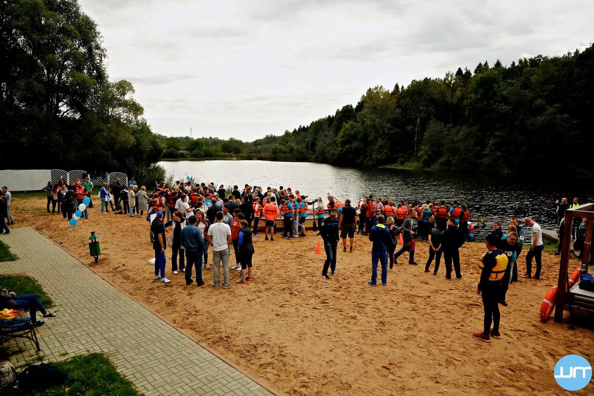 Массовый водный поход по реке